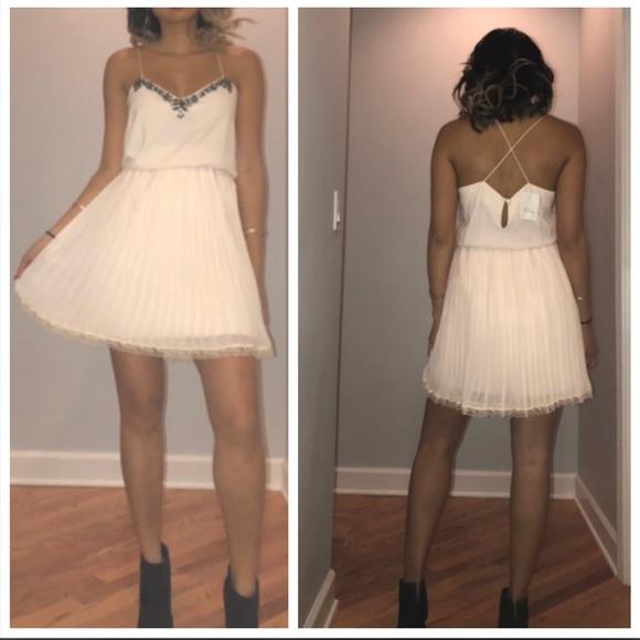 Victoria's Secret Dresses & Skirts - Embellished pleated lace dress